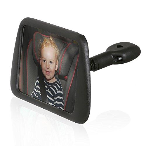 Wicked Chili achterzitspiegel voor baby's in de reboard kinderzitje (spiegel afmetingen: 140 x 88 mm, kantelbaar, draaibaar, trillingsvrij)