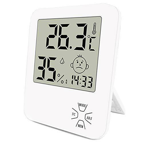Mini Thermomètre Hygromètre Intérieur Numérique à...