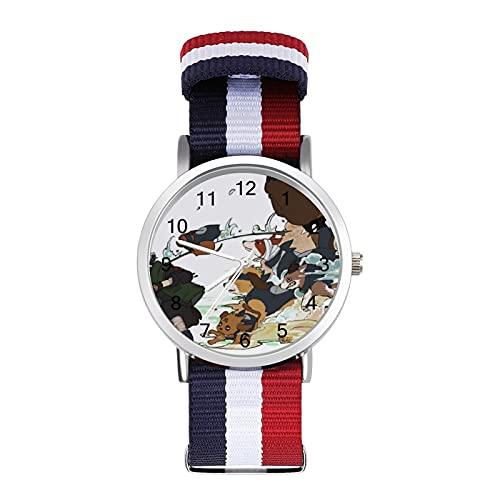 KakashiBraided Band Reloj con escala de moda ajustable para negocios, banda de impresión a color, adecuado tanto para hombres como para mujeres
