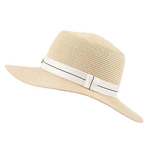 ZLC Primavera y Verano Viaje Tejidos Sombreros de Paja Hombres y Mujeres Todo Partido Sombreros de Playa Sombreros al aire libre Pantalla solar Protección UV M Sombrero de Sol