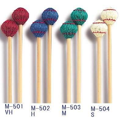 PLAY WOOD プレイウッド マリンバ・ビブラフォン用 綿糸巻きマレット M503