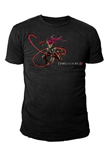 Darksiders III Fury Logo - Camiseta para Hombre (Tallas S-XL), Color Negro