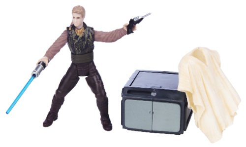 Star Wars Action Figure: Attack of the Clones Anakin Skywalker Outland Peasant Disguise w/Removable Poncho, Blaster & Storage Container