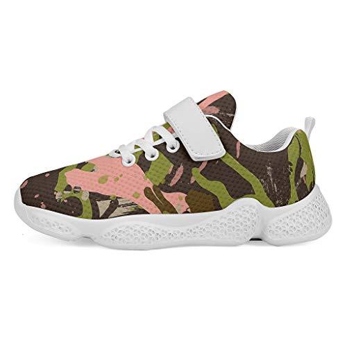 YxueSond - Zapatillas de deporte de camuflaje para deportes al aire libre, transpirables, zapatillas de tenis atléticas para correr o calzado para niños, Infantil, blanco, 31