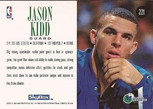 1994-95 Skybox Premium Basketball #221 Jason Kidd RC Rookie Dallas Mavericks Official NBA Properties Trading Card