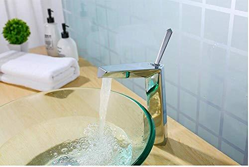 WANDOM wastafel waterkraan badkamer koper waterkraan zwart wastafel mengkraan WC wastafel warm koud eenhand chroom waterkraan Chrome Tall