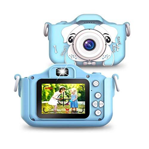 sknonr Kinder Kamera, 2000W Digitale Dual-Kamera mit 2,0 Zoll IPS-Bildschirm, 32 GB SD-Karte, die Geschenke for Mädchen und Jungen im Alter von 3-12 (Color : Blue)