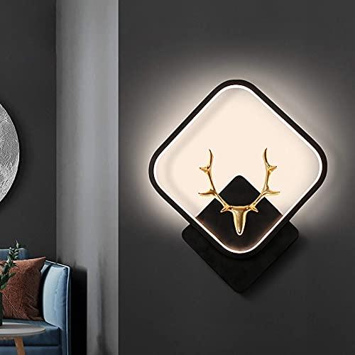 Lámpara de Pared LED para Dormitorio, lámpara de Pared Decorativa de diseño Creativo Interior, iluminación de Pared de Metal, lámpara de Noche con Aplique de Pared para Vivir