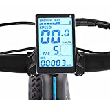 Vikzche - Pantalla de bicicleta eléctrica M5, voltaje de visualización, velocidad, tiempo de conducción, nivel de batería