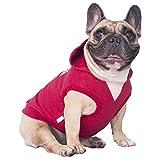 iChoue Sleeveless Dog Hoodies Clothes for Medium Dogs Cotton Sweatshirts French Bulldog Frenchie Pug Corgi Pitbull English - Red/Size L Plus