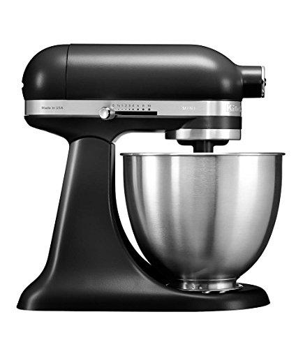 KitchenAid 5KSM3311XEBM, 3,3-L-Mini-Küchenmaschine mit kippbarem Motorkopf, MATTE BLACK