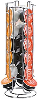 Rubik Coffee Capsules Holder, Stainless Steel Tower Storage Stand For 18pcs Dolce Gusto Coffee Capsules
