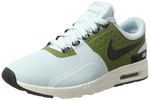 Nike Damen WMNS Air Max Zero Sneakers, Türkis (Glacier Blue/Black/Ivory/Palm Green), 41 EU