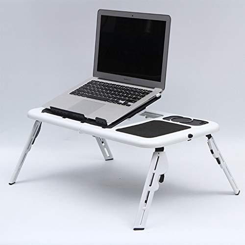 N A Laptop Schreibtisch fur Bett Laptop Tischstander Verstellbarer Riser Verstellbarer Laptop Betttisch mit Ventilator Faltbarer Betttablett Fruhstuckstisch