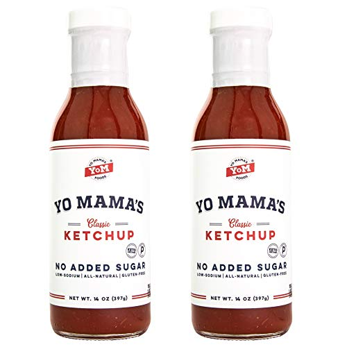 Keto Classic Ketchup by Yo Mama's Foods - No Sugar Added, Low Carb