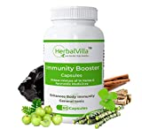 Herbalvilla Immunity Booster for Adults with Tulsi, Giloy, Ashwagandha & 11 Other ayurvedic Herbs (60 Casules)