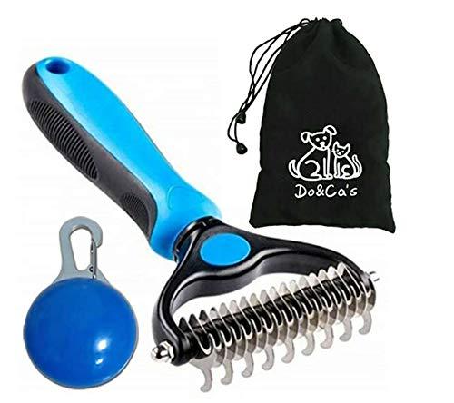 Pet Room Dog El depilación que combina el kit de herramientas de peinado, los peines de eliminación de cabello profesional en ambos lados, pueden eliminar los nudos sueltos, colchonetas, cabello