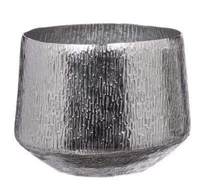 AD TREND-STAR Caspo Vaso in Metallo Decorazione Moderno Cachepot 24 x 20 cm