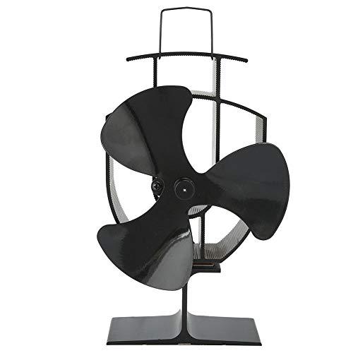 Fdit Ventilador de Chimenea accionado por Calor de Acero Ventilador de Estufa Resistente a Altas temperaturas Equipo de calefacción...