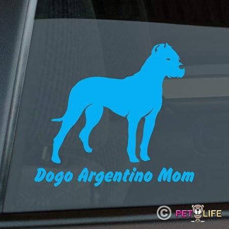 I Love My Dogo Argentino Windshield Sticker Vinyl Auto Window v2