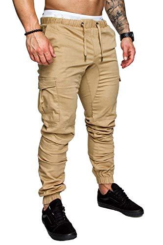 Malcolm12311 Pants Pantalon de Jogging pour Homme - pour Fitness, Musculation, Gymnastique - pour Coureurs, Automne - Vert - XX-Large