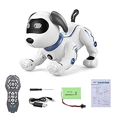 GeZo Multifunctional Interactive Robot Dog/Artificial Intelligence/Remote control robot dog/Stands upside down, does push-ups, greets/Sways to music while singing/Toy for kids at 3 4 5 6 7 8 years old