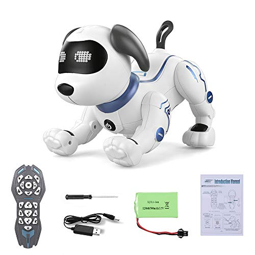 GeZo Multifunctional Interactive Robot Dog/Perfect Electronic pet/Remote Control Robot Dog/Stands Upside Down, Does Push-ups, greets/Sways to Music While Singing/Toy for Kids at 3 4 5 6 7 8 Years Old