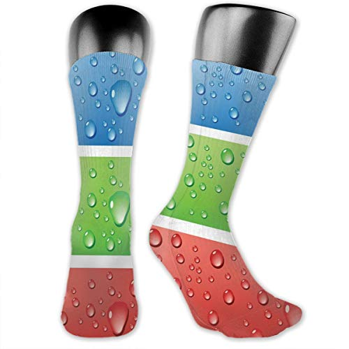 vnsukdlfg Compression Medium Calf Socks,Water Drops On A Plastic Surface Like Summer Vibes Image Artwork Print