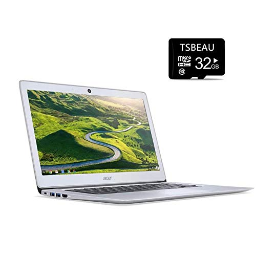 Acer Chromebook 14 Laptop, 14' Full HD IPS Display, Intel Celeron N3160 Quad-Core Processor 4GB 16GB eMMC, Chrome OS, Bundled with TSBEAU 32GB Micro SD Card