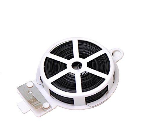 1 Bobine Ruban Robuste Multifonction Intérieur Métallique Attache Plante Câble Jardin Fermoir Cutter 50M Black Cutter