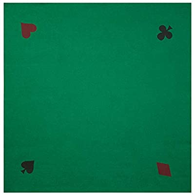 "GSE Games & Sports Expert 40"" x 40"" Casino Poker Card Playing Tabletop Felt Layout Mat"