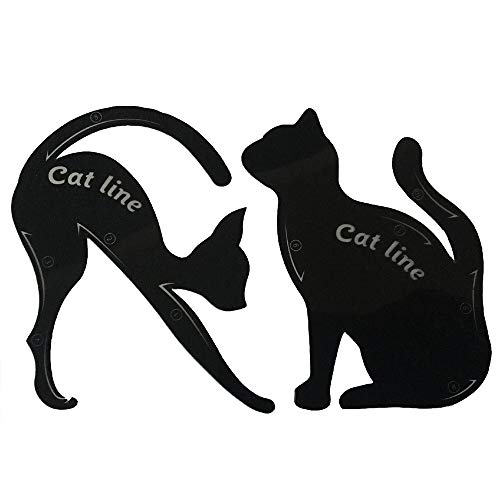 Vin-Sping - Herramienta de maquillaje de gato de línea de 2 piezas para mujeres, liviana, práctica, plantilla de delineador de ojos