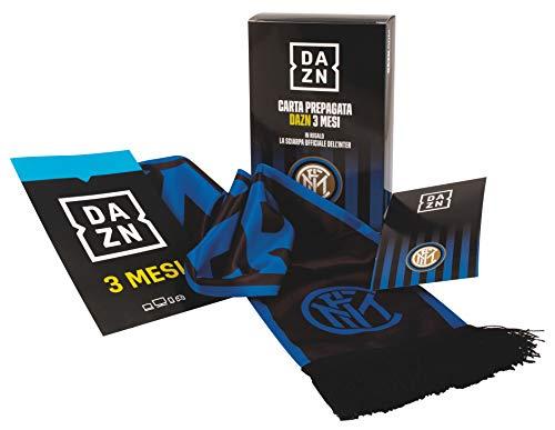 DAZN SPECIAL EDITION. Carta Prepagata DAZN 3 Mesi con in regalo la sciarpa ufficiale dell'Inter.
