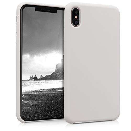 kwmobile Hülle kompatibel mit Apple iPhone XS Max - Handyhülle gummiert - Handy Case in Beige