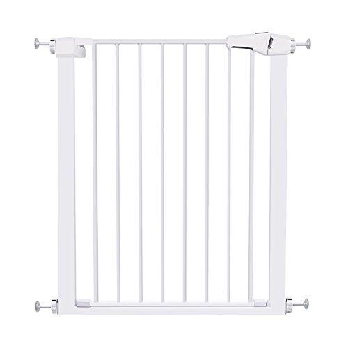 Barrière de sécurité Baby Gates for Stairs - Portail pour Animaux très Large avec Porte, Hauteur 96 cm, Largeur 75-172 cm, Blanc (Taille : Width 85-92cm)