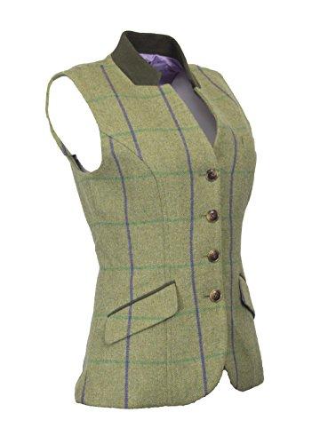 Walker & Hawkes - Dames Tweed Margate Waistcoat Gilet Achterband - 8-16
