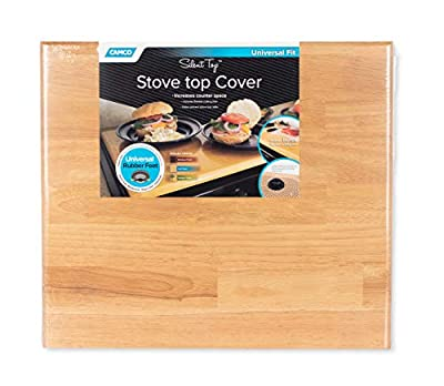 """Camco Oak 43521 Universal Stove Top Cover-19 1/2"""" x 17"""" by 3/4"""" thick. from Camco"""