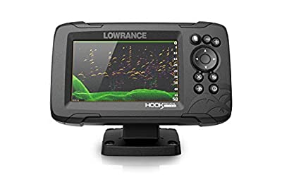 Lowrance Hook Reveal 5 Five-inch fishfinder Display with SplitShot transducer and U.S Inland Mapping.