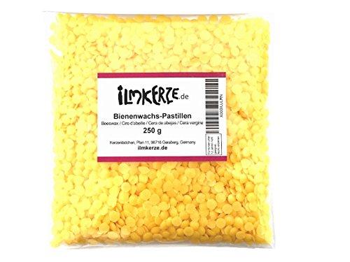 Bienenwachs Pastillen, gelb, 250 g, für Kerzen