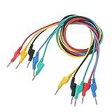 MiaoMiao 5 PCS 4mm Doble plátano Enchufe Liso Silicona Cable de Prueba Cable de Prueba para multímetro 1m 5 Colores al por Mayor Dropshipping Service