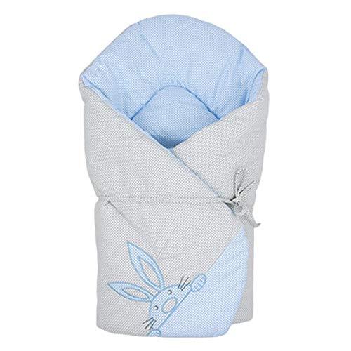 Sevira Kids - Sacco Nanna D 'em Maillotage Multiuso in 100% Cotone - Nido D' Angelo Nascita Find Me - Blu, Dès la naissance - 3/4 mois