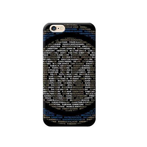 TheBigStock Cover Custodia per Tutti Modelli Apple iPhone x 8 7 6 6s 5 5s Plus 4 4s 5c TPU - G132 Inter Logo con Dentro I Nomi dei Giocatori, iPhone 7