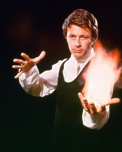 Bill Bixby the Magician 16x20 Poster with fire in hand Cult TV Series