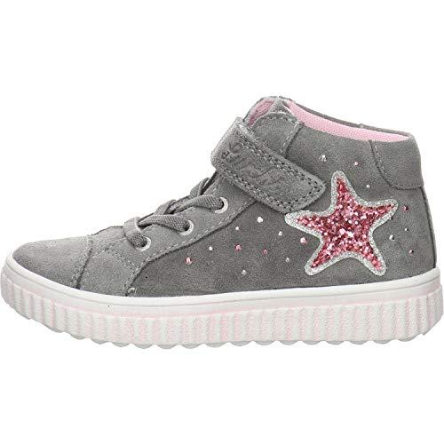 Lurchi Mädchen YENNI Hohe Sneaker, Grau (Grey 25), 33 EU