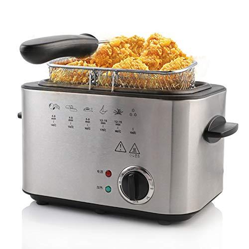 220V 1200W Constante temperatuur elektrische frituren machine multifunctionele huishoudelijke rookloze commerciële Friteusen