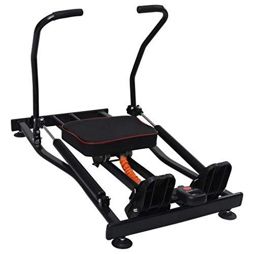 Irfora Rudergerät für Zuhause Rudermaschine Ruderzugmaschine Rower Fitnessgerät Trainingsgerät Indoor Rowing Machine, 4 Stufen Hydraulik-Widerstand LCD-Display Max.150 kg