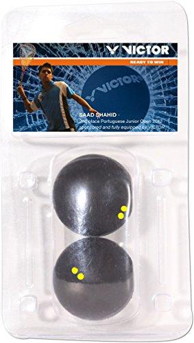 VICTOR Squashball Blister, Doppel Gelb, 170/7/0