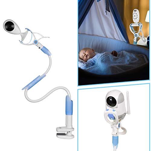 MYPIN Bébé Moniteur 2,4' LCD Couleur Babyphone Caméra Vidéo Bébé Surveillance 2,4 GHz Bidirectionnelle Vision Nocturne (Support)