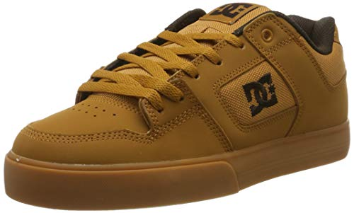 DC Shoes Herren Pure - Shoes for Men Skateboardschuhe, Light Brown, 46 EU