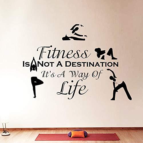 Deportes fitness no es ejercicio pared de vinilo | oficina hogar pared dormitorio estudio decoración de la pared